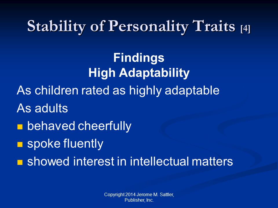 Stability of Personality Traits [4]